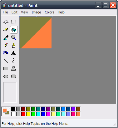 how to make a gradient on ms paint